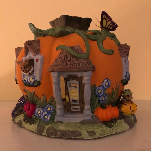 PartyLite Harvest Pumpkin candle holder